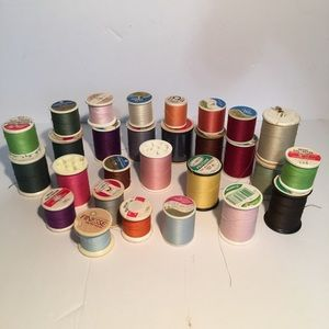 Sewing thread vintage lot of 28 polyester